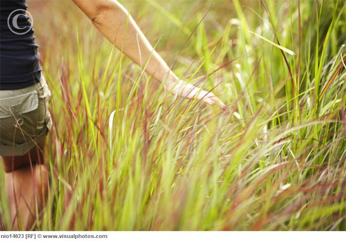 woman walking in grass - photo #33