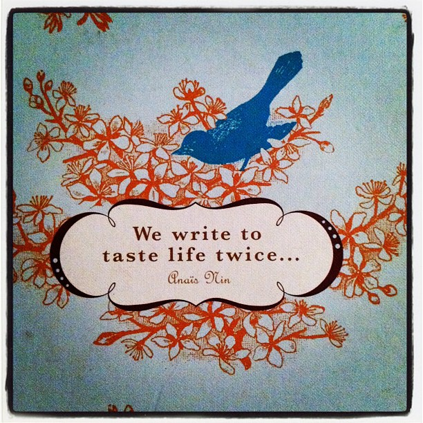 we write to taste life twice