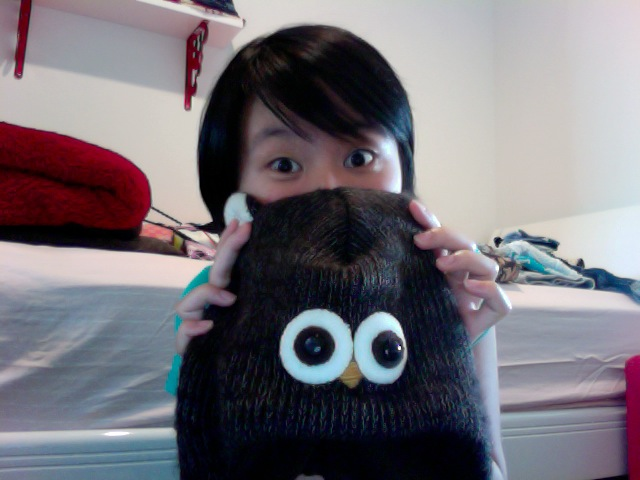 Get enough sleep, or else... (see the dark circles under my eyes...) you'll start become an owl. not. good.