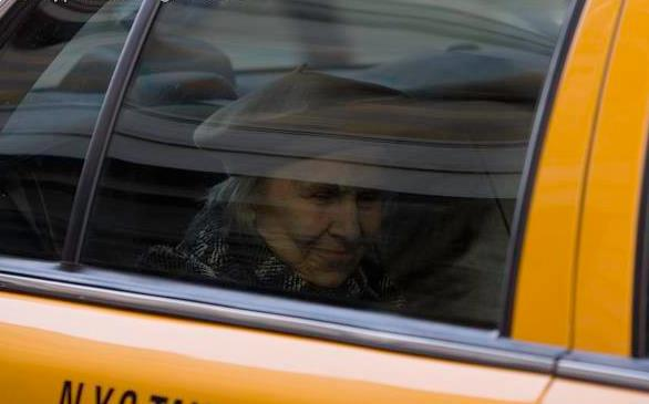 lady in taxi